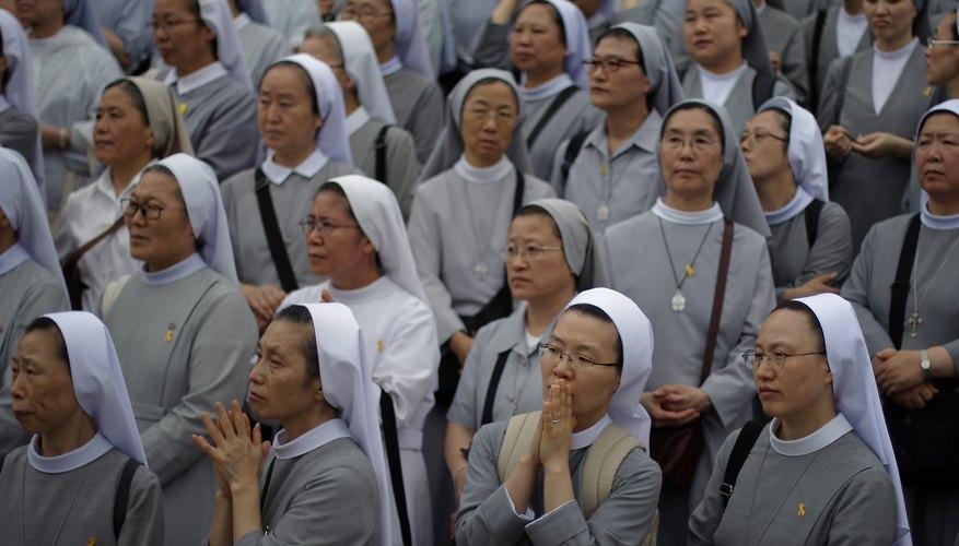 A group of nuns.