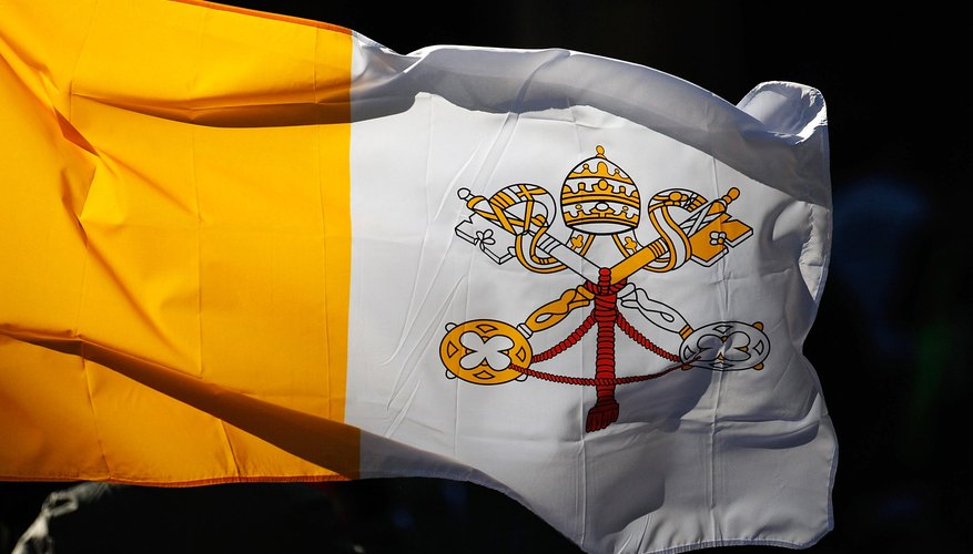 As the official papal color, yellow features prominently on the Vatican flag.
