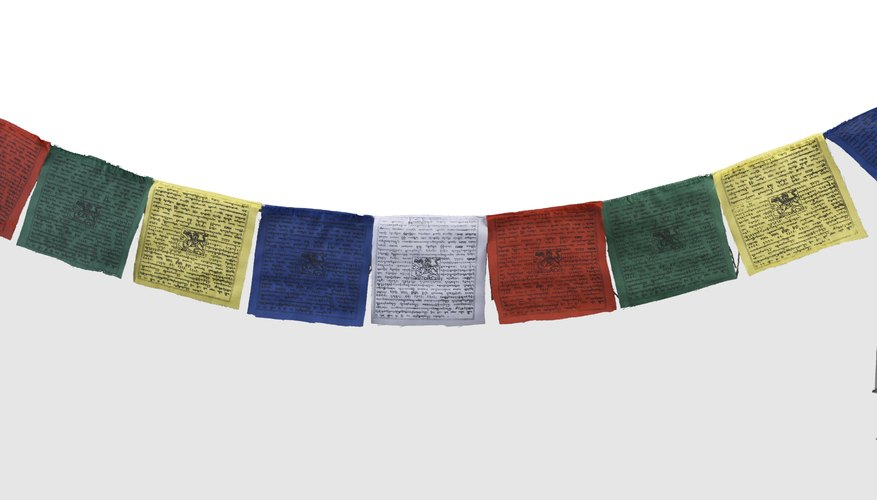 Tibetan Buddhists believe that prayer flags are only effective when they are blown by the wind.