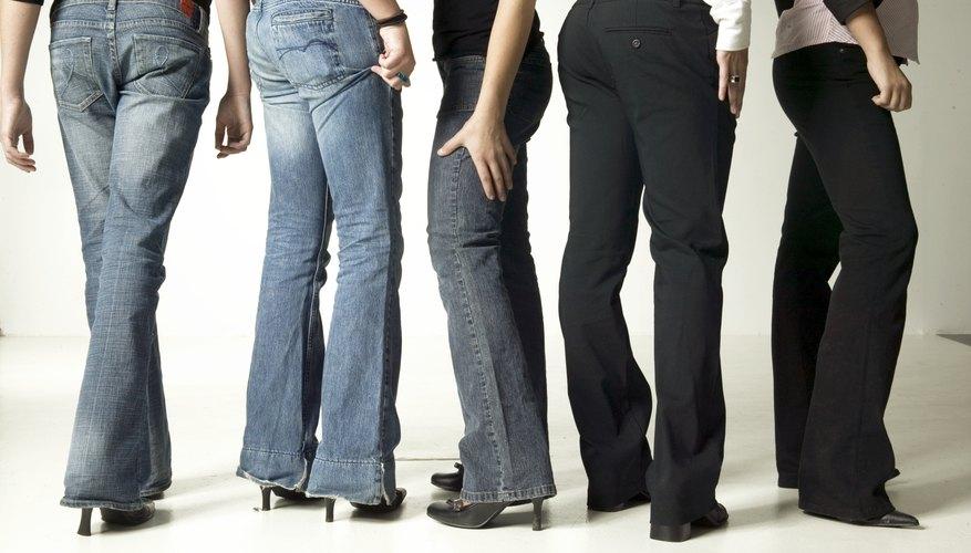 Make black jeans pop in a sea of faded, blue denim.
