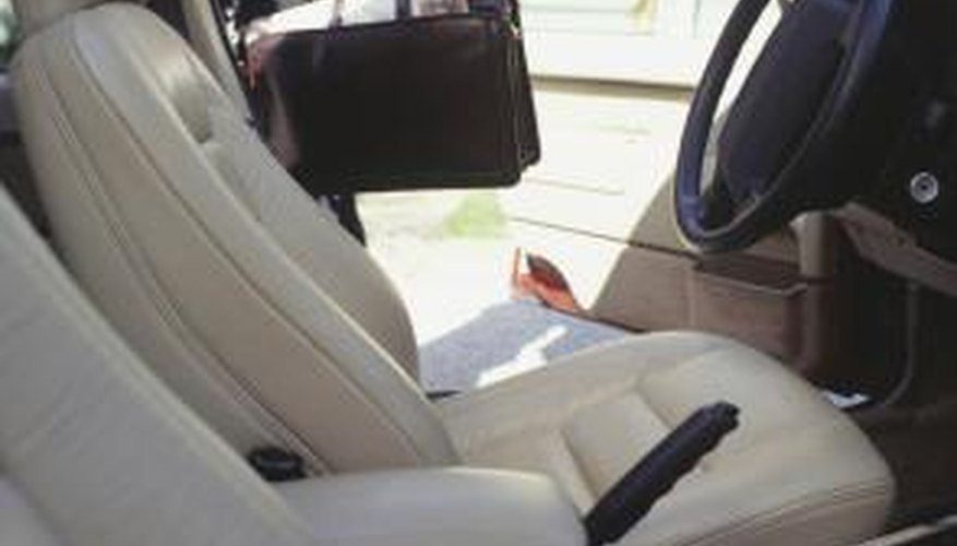 Removing mould from leather seats requires a different process than for other surfaces.