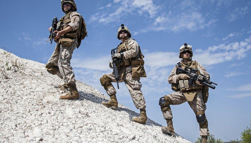 U.S. Marines on a mountain mission