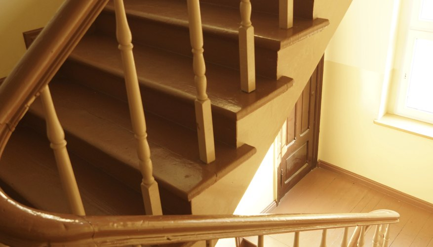 Cork flooring gives a good grip on stairs.
