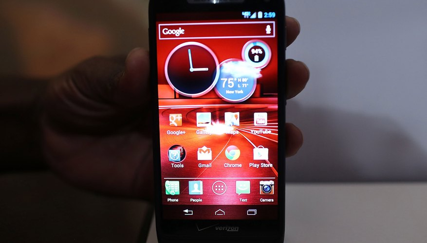 The Droid Razr M has eight gigabytes of internal storage space.