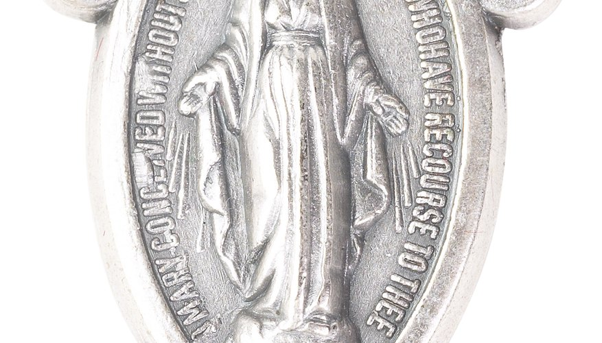 The most common image on Catholic medals is that of the Virgin Mary.
