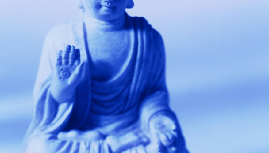 The chief component of a Buddhist altar is a statue or picture of the Buddha.