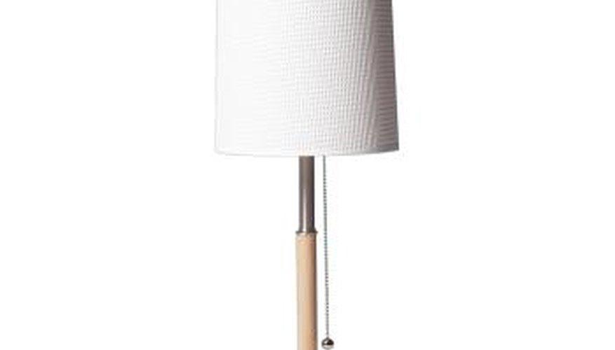 A modern paper lamp shade.