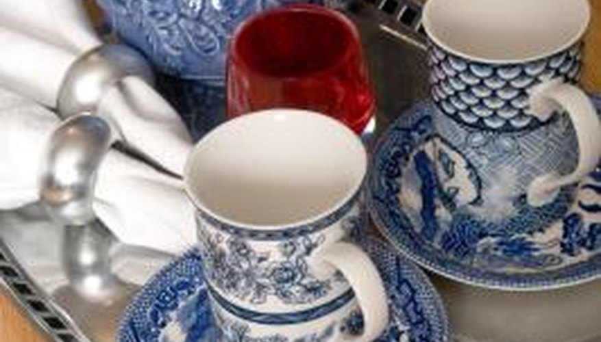 Vintage dinnerware often shows crazing caused from temperature change.