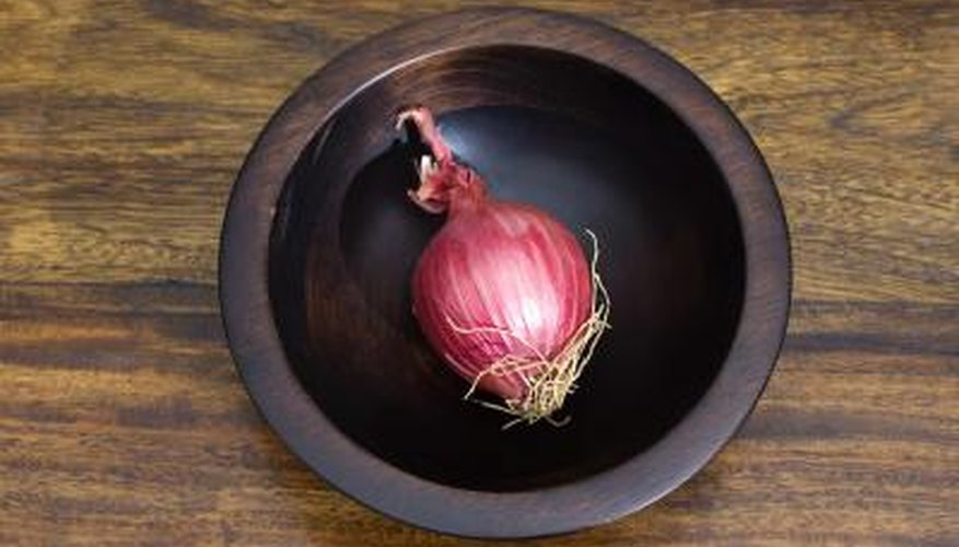 A typical onion can yield new seeds for an onion garden.