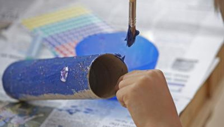 Cardboard tubes are popular craft items.