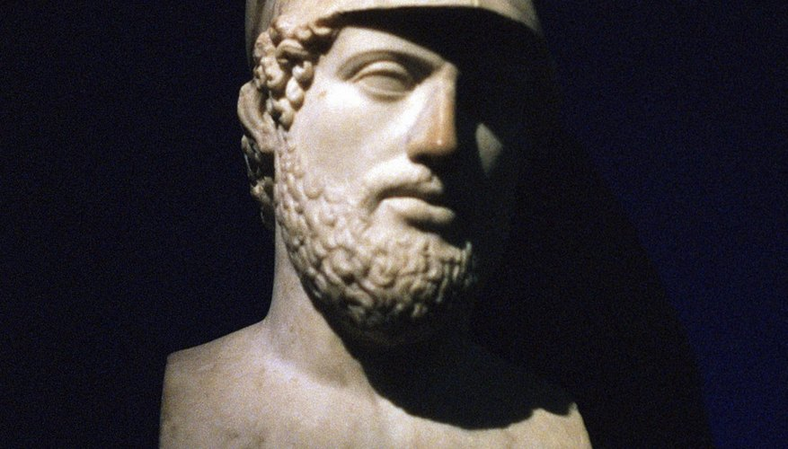 Athenian general Pericles convinced his fellow citizens to stay committed to their war with the Spartans.