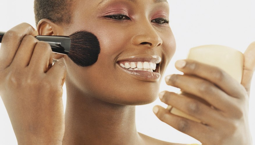 Cream blush blends smoothly over dry or uneven skin textures.