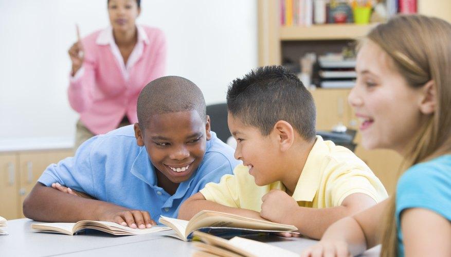 Children talking during class