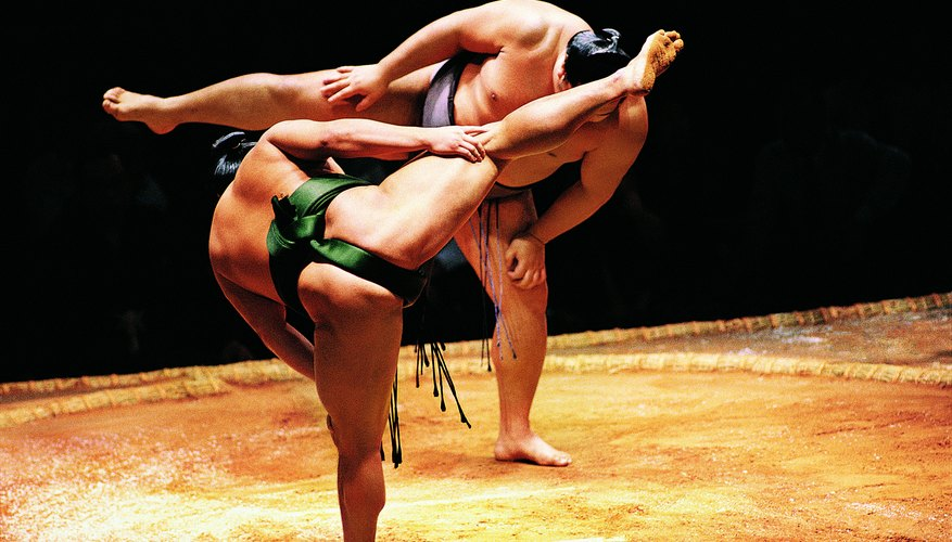 Sumo matches are steeped in Shinto tradition.