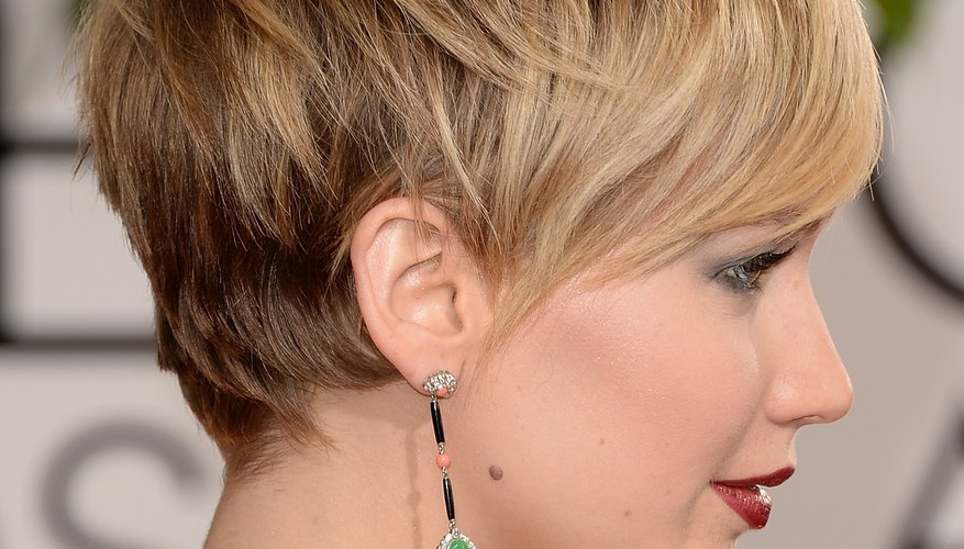 Go for a daring look like actress Jennifer Lawrence with a cute pixie cut.