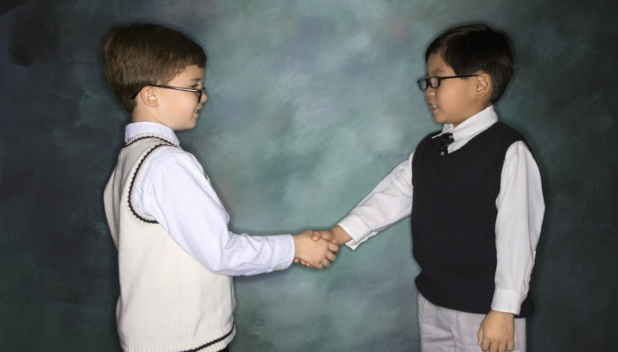 Children learn to respect others via The Golden Rule.