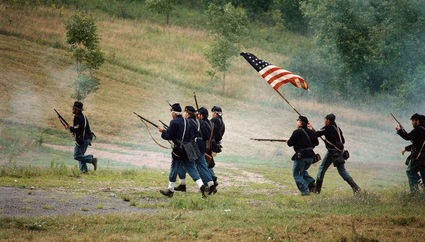 Confederate soldiers defeated the Union Army in the Battle of Bull Run.