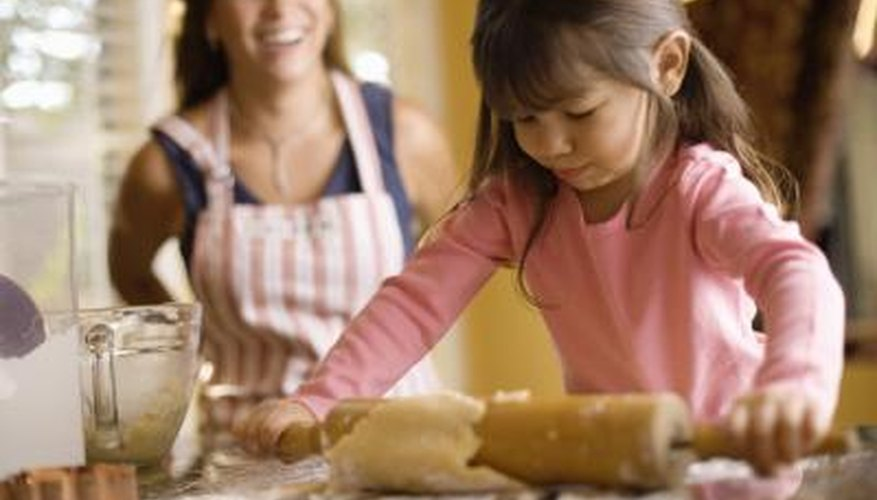Salt dough is created with common kitchen ingredients.