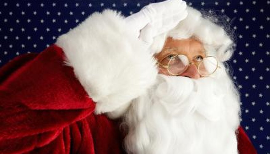 Santa's fluffy, white beard is an indispensable costume accessory.