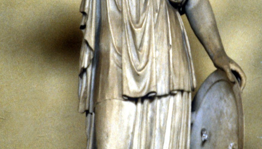 The Roman goddess Minerva presides over wisdom and warfare, just like her Grecian counterpart.