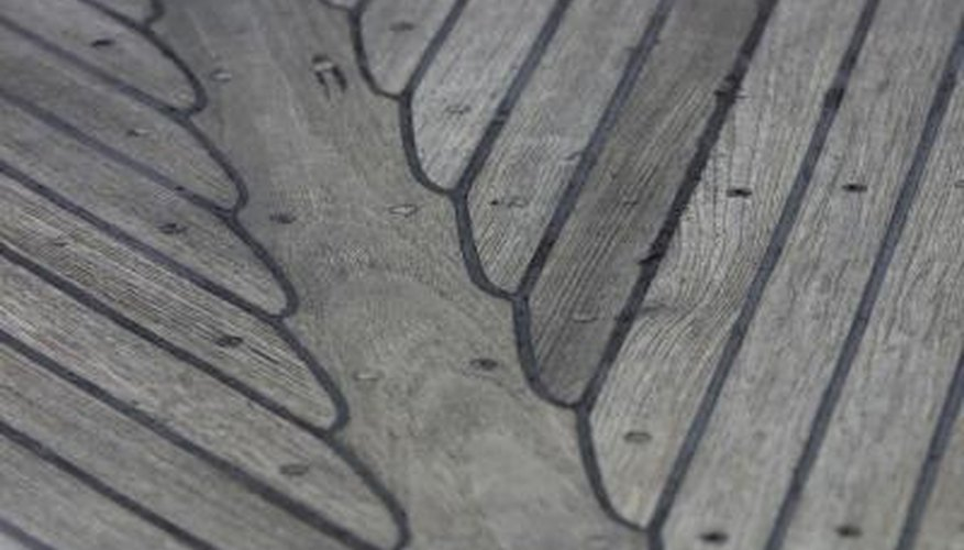 As teak wood ages, it turns a greyish silver colour.