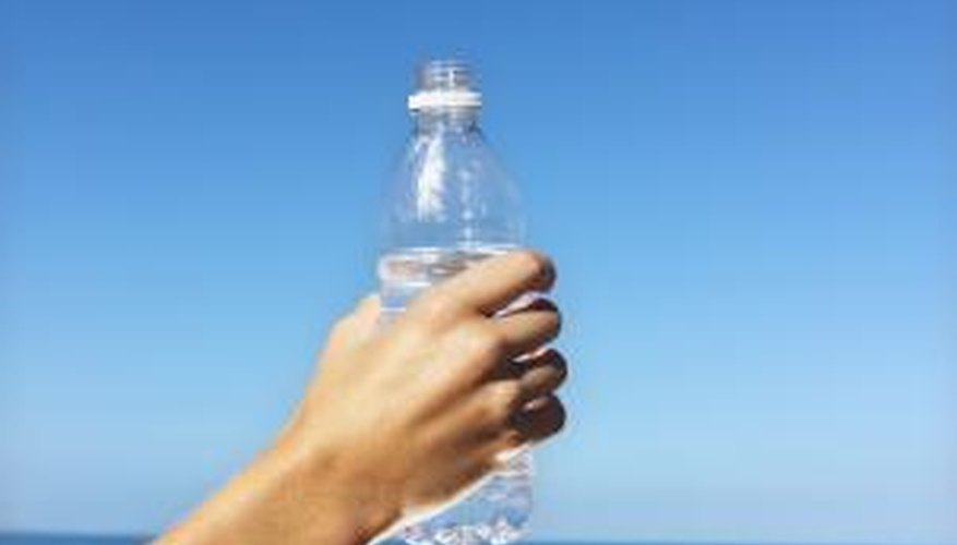 Rinse and dry old plastic bottles so you can reuse them.