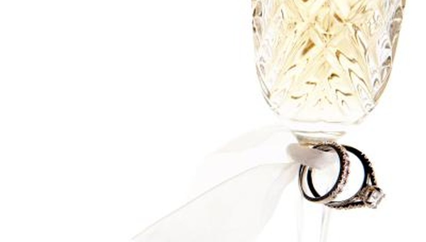 Ribbon is a simple, elegant accent for dressing up flutes.