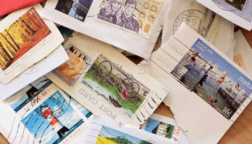 Stamps removed from envelopes