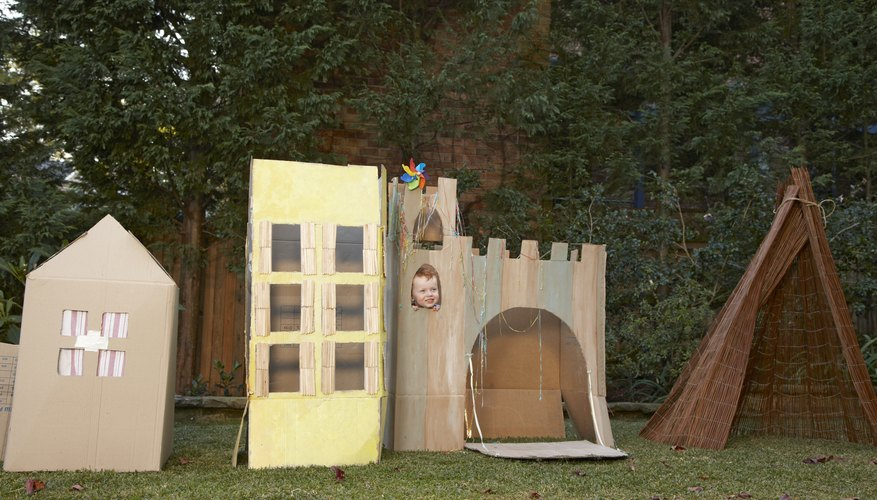 A cardboard castle looks better with its own drawbridge.