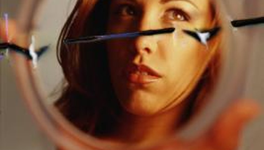 A narcissist sees an untrue and broken image of herself.