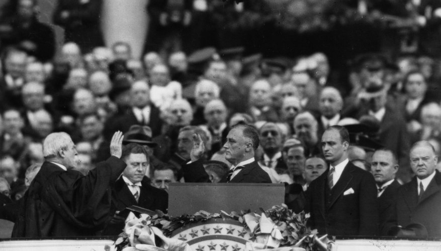 Franklin D. Roosevelt took the presidential oath of office an unprecedented four times.