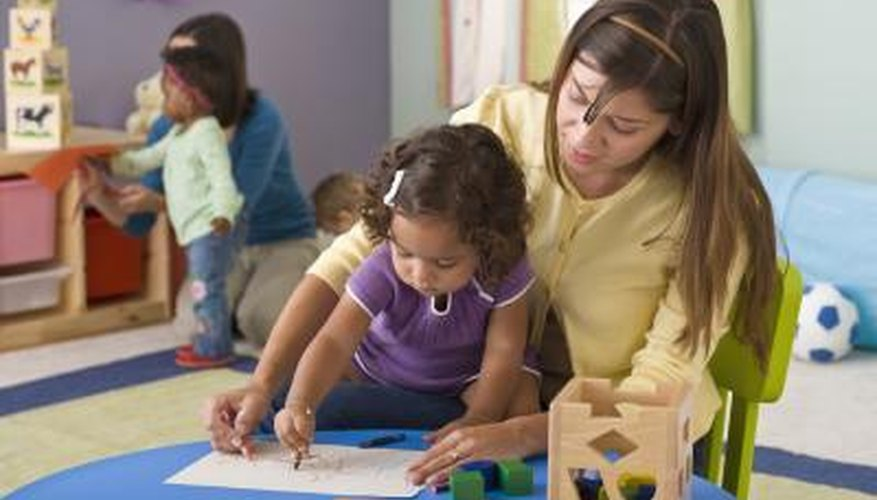 The preschool teacher creates written records about your child.