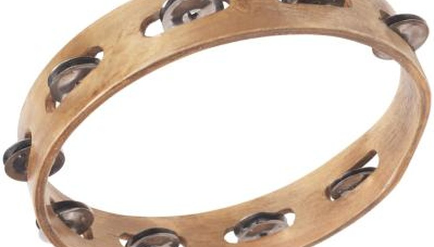 A tambourine can keep beat with a jingling beat sound when played.