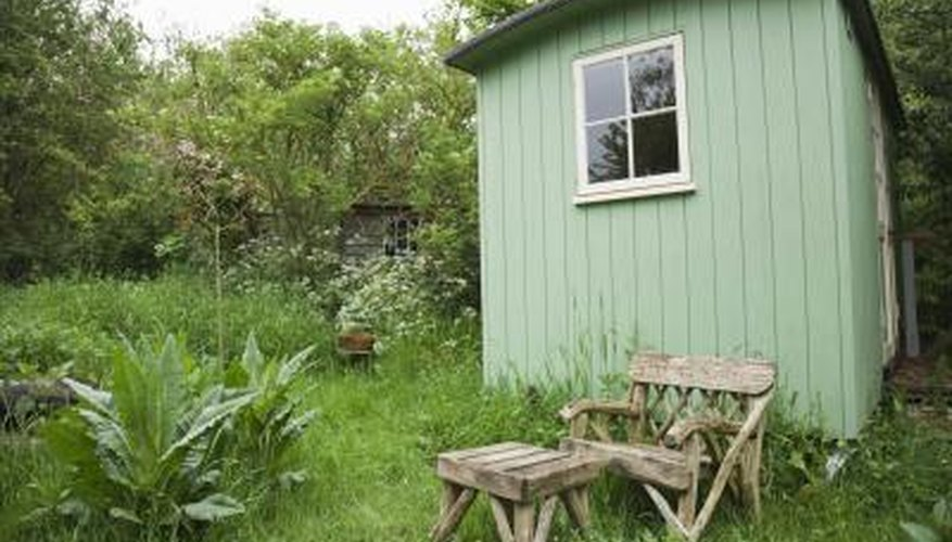 Stake down a shed for maximum wind protection.