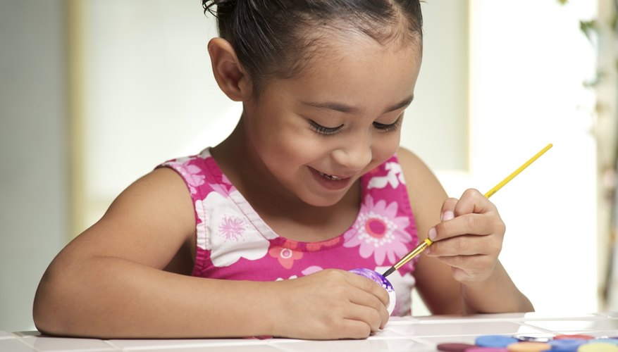 Girl painting craft