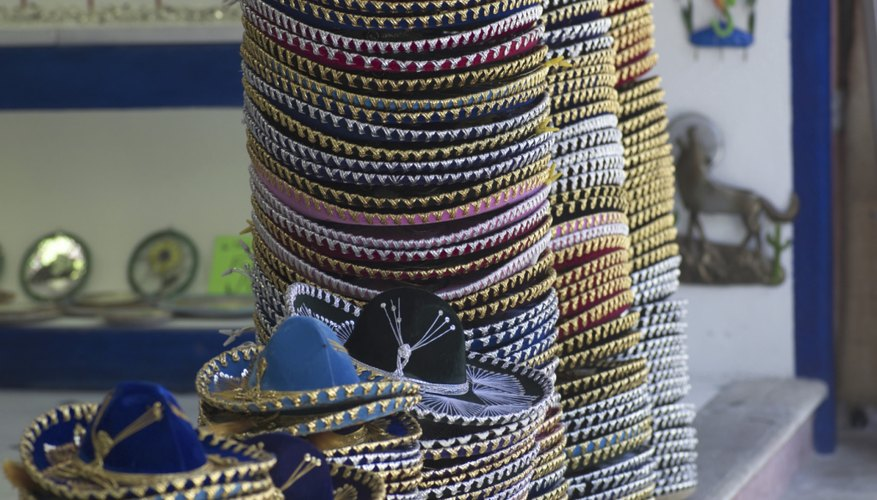 Stacks of sombreros