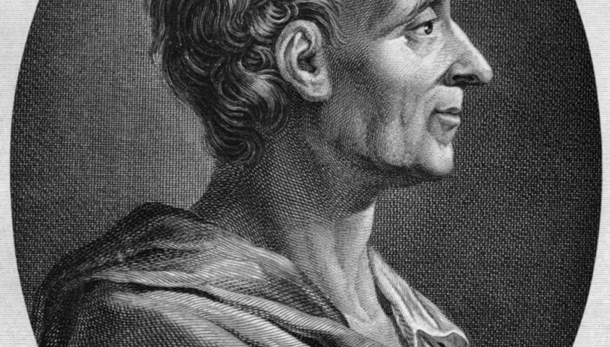 Montesquieu was a major figure in French Enlightenment philosophy.