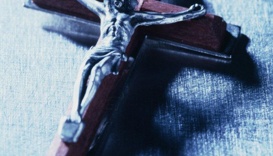 The cross symbolizes Jesus' crucifixion.