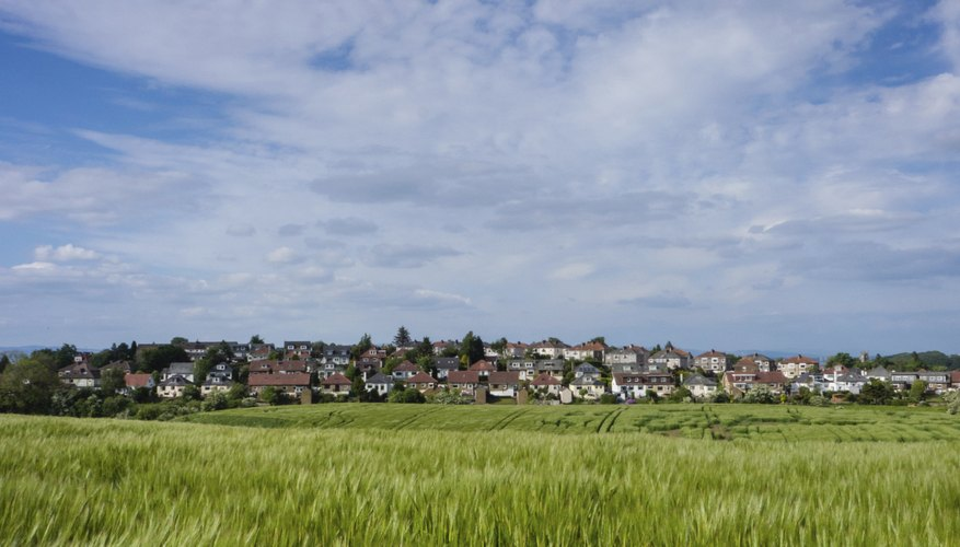 The urban fringe is the land where town meets country.