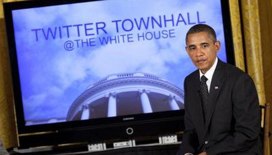 United States President Barack Obama has a Twitter account.