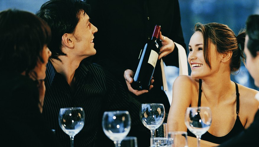 If you order a bottle of wine, your server will allow you to try it first.