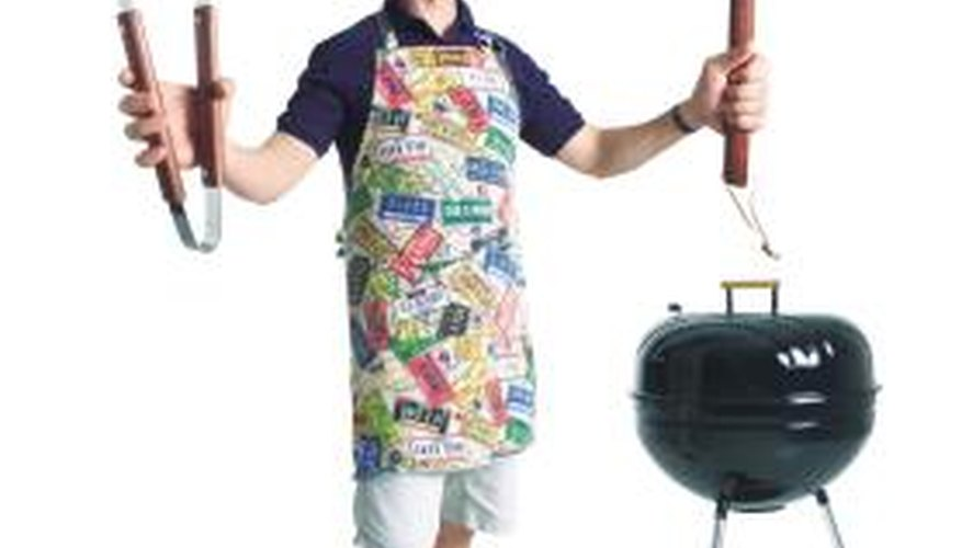 Brick and metal materials are used to make grills because they can take the heat.