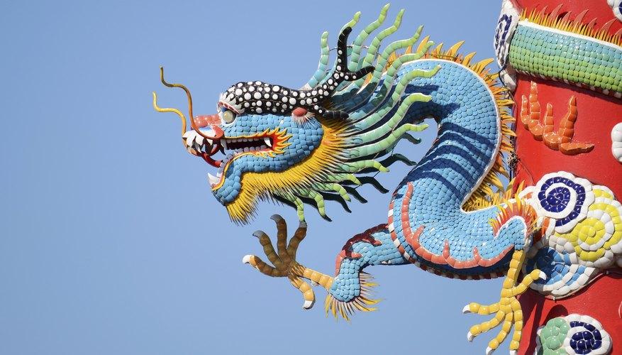 Chinese blue dragon