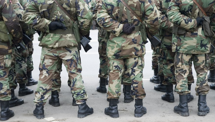 Army soldiers.