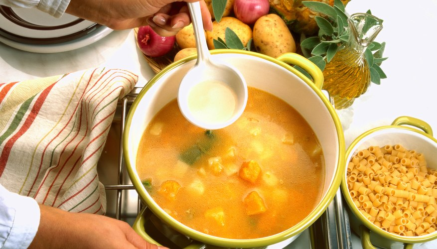 Soup and soft fruit are good, nourishing recovery foods.
