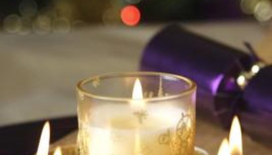 Candles are made with wax and other ingredients melted in a melting pot.