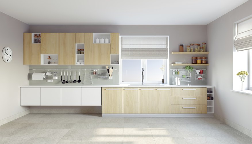 Self-closing hinges work well in contemporary kitchens.