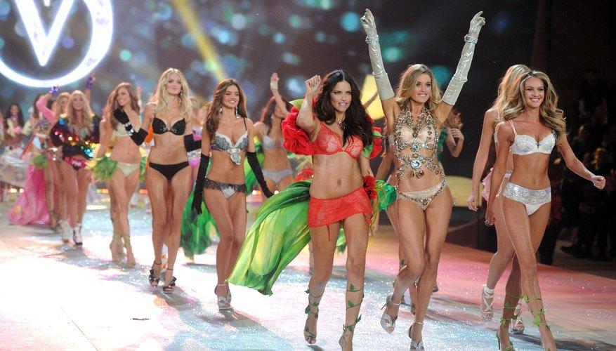 Victoria's Secret models on the runway.