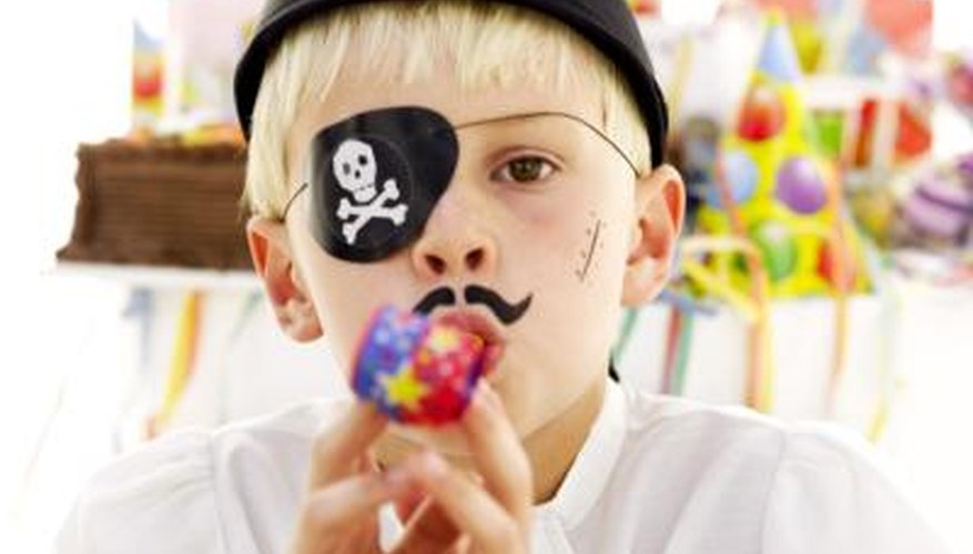 Teach children how to talk like pirates at a pirate-themed birthday party.