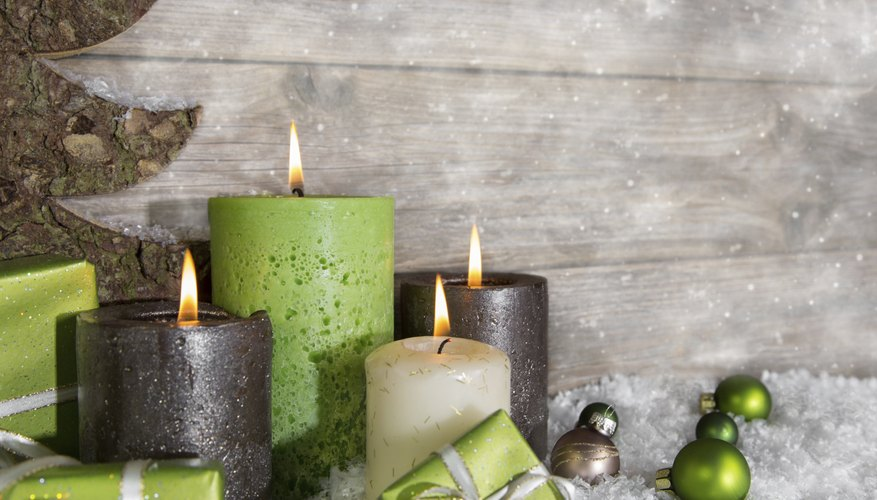 Bayberry wax is mixed with more stable waxes to make decorative holiday candles.